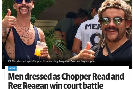 Men dressed as Chopper Read and Reg Reagan win court battle against 'fun police'