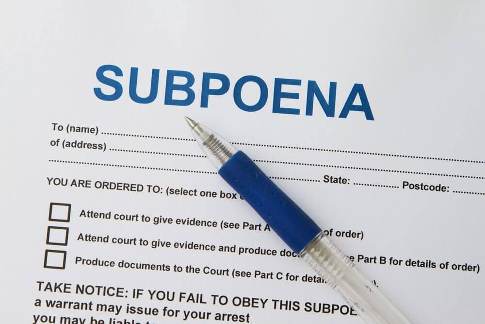 Subpoena | The Defenders: Criminal Defence Lawyer Sydney & Parramatta